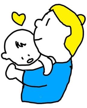 母親キス 赤ちゃん