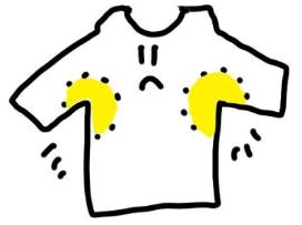Tシャツ 黄ばみ