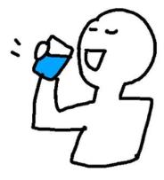 水を飲む 口臭予防